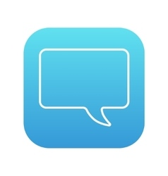 Empty speech bubble line icon vector image