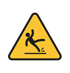 Falling people person injury slipping on wet vector