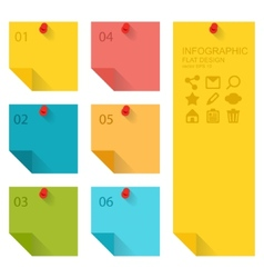 Flat design of infographics elements colorful vector
