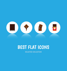 Flat icon bitter set of wrapper dessert vector