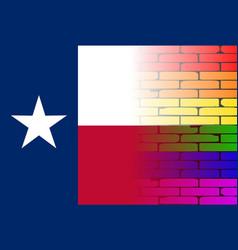 Gay rainbow wall texan flag vector