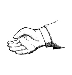 Gesture with fingers icon Sketch hand design vector image