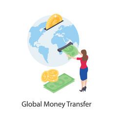 Global money transfer vector