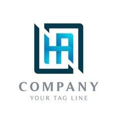 ha abstract logo box surrounding it vector image