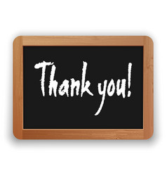 hand drawn thank you on a blackboard vector image