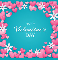 happy valentines day beautiful and cute card with vector image