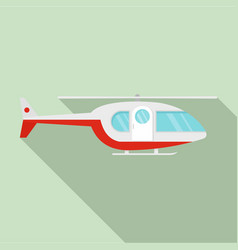 Hospital helicopter icon flat style vector