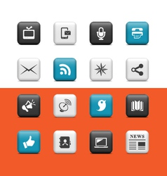 Internet web buttons vector