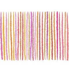 Irregular orange pink lines pattern over white vector