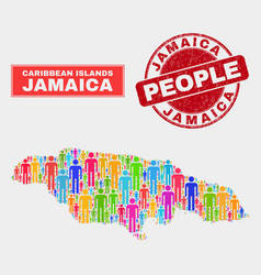 Jamaica map population demographics and unclean vector