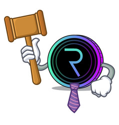 Judge request network coin mascot cartoon vector