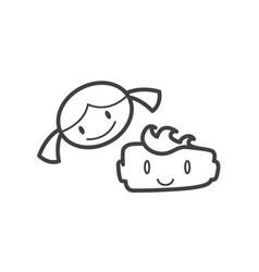 kid icon symbol child design set joy happy friends vector image