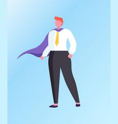 man superhero isolated cartoon character vector image