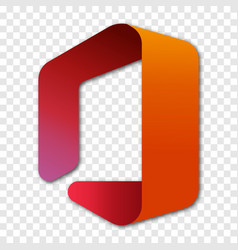 Microsoft office logo with shadow vector