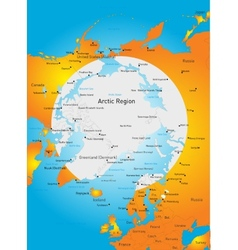 North pole vector image
