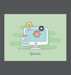 Optimization icon vector