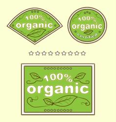 Organic Green Eco Food Labels vector