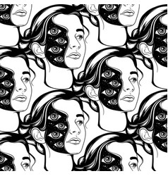 pattern with hand drawn of vector image