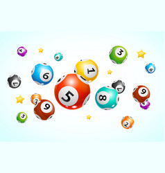 realistic detailed 3d lotto ball concept card vector image
