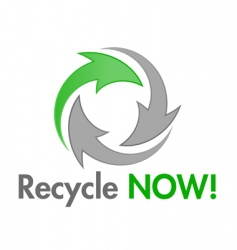 recycle now design element vector image