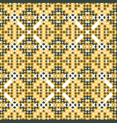 Seamless intricate pattern in contrasting colors vector