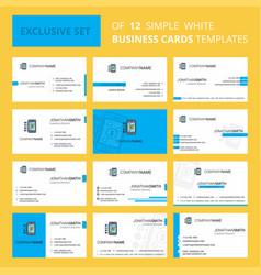 Set of 12 money through smartphone creative vector
