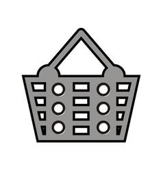 shop basket logo vector image