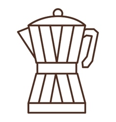 Silhouette glass jar of coffee with handle vector