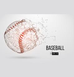 Silhouette of a baseball ball vector