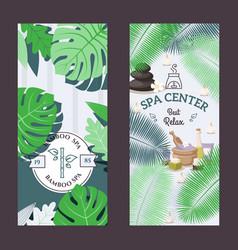 spa center advertisement banner vector image