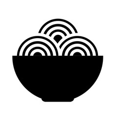 spaguetti dish isolated icon vector image
