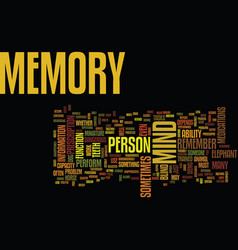 The memory of the mind text background word cloud vector