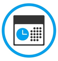 Time And Date Rounded Icon vector