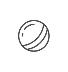 toy ball line icon vector image
