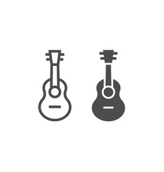 ukulele line and glyph icon music and string vector image
