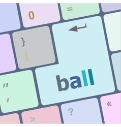 word ball on computer pc keyboard vector image