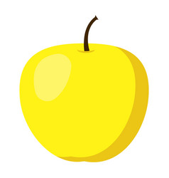 yellow apple icon flat style vector image