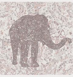 Elephant in asian style mandala seamless nude vector