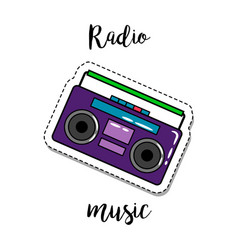 fashion patch element radio vector image vector image