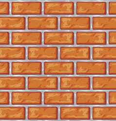 orange brick wall background vector image vector image