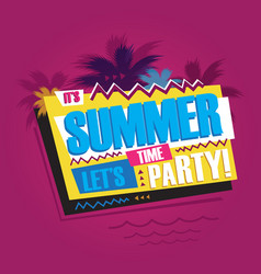 summer abstract vintage retro banner sign vector image