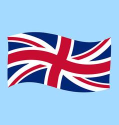 uk - union jack - flag flying vector image vector image