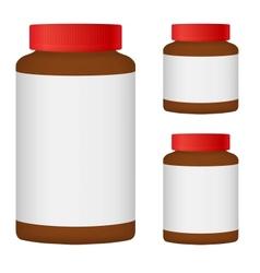 Brown Blank Bottle Set For Packaging Design Set 3 vector image vector image
