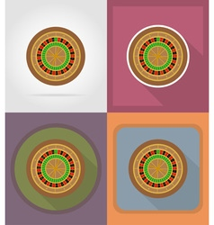 casino flat icons 05 vector image vector image