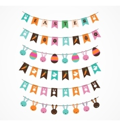Easter decoration brush garlands vector image vector image