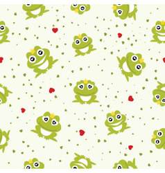 Frog Prince seamless background vector image vector image