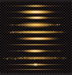 Gold glittering star dust trail sparkling vector