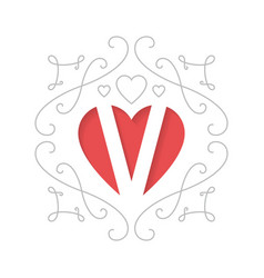 Happy valentines day card holiday poster with vector