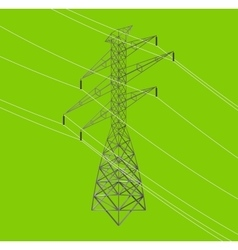 isometric high power voltage line vector image
