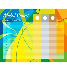 Medal Count Design vector image